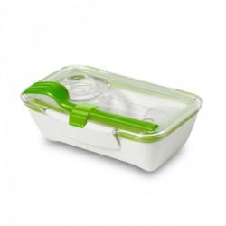 Ланч бокс прямоугольный Bento Box Black+Blum Белый / Зеленый