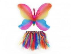 Набор феи: крылья радужные с тельцем