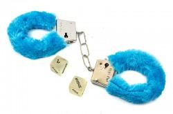 Наручники с кубиками голубые