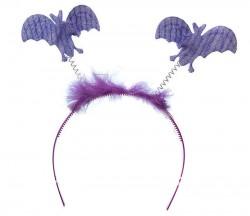 Обруч с летучими мышками фиолетовый