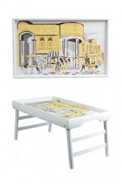 Столик в кровать Белый Джаз