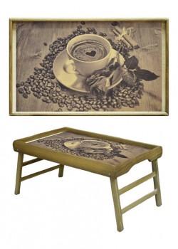 Столик для завтрака Кофе и цветок