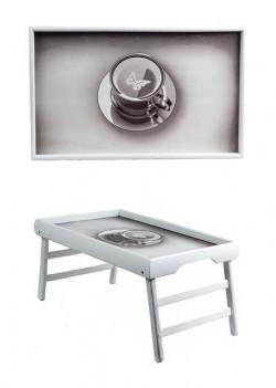 Столик для завтрака Кофе и бабочка