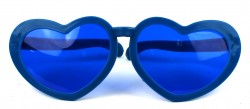 Очки гигант Сердечки синие