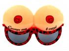 Карнавальные очки грудь красные