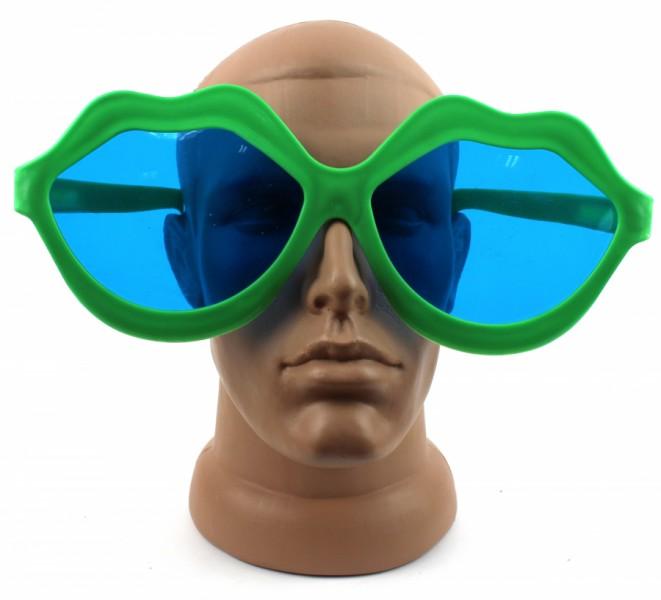 Очки для вечеринки Губы зеленые