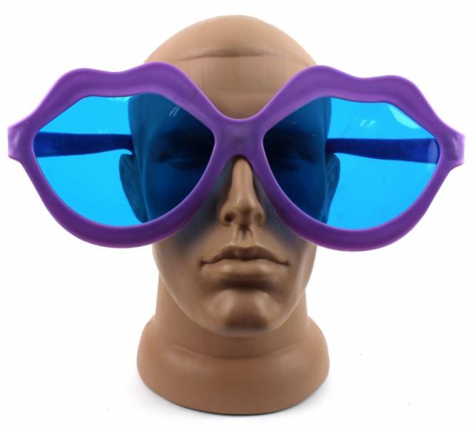 Веселые очки Губы фиолетовые
