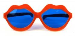 Очки карнавальные Губы оранжевые