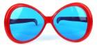 Очки Гигант круглые красные