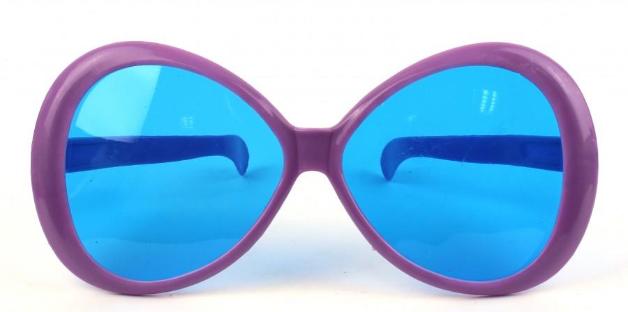 Очки для карнавала гигант фиолетовые