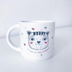 Чашка Котик у меня от тебя мурашки