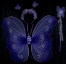 Крылья бабочки двухслойные с тельцем фиолетовые