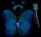 Крылья бабочки двухслойные с тельцем голубые