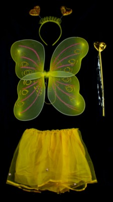Набор бабочки Сердечко желтый
