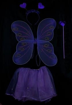 Набор бабочки Сердечко фиолетовый