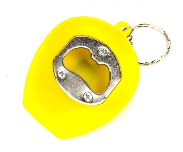 Брелок Каска с фонариком желтая
