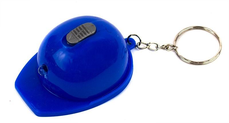 Брелок Каска с фонариком синяя