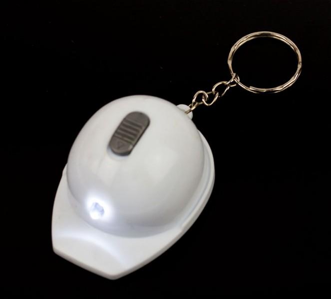 Брелок Каска с фонариком белая