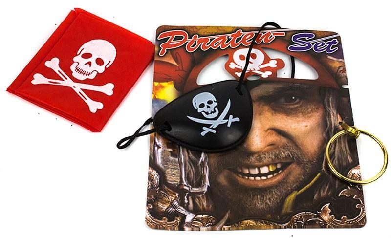Набор Пирата ( серьга, повязка на глаз)