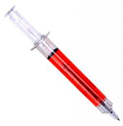 Ручка - шприц красная