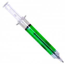 Ручка  шприц зеленая