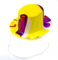 Шляпка мини Цилиндр с принтом