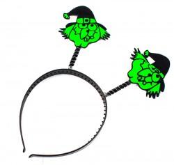 Обруч Halloween ведьмочки зеленые