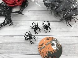 Кольцо паук черный