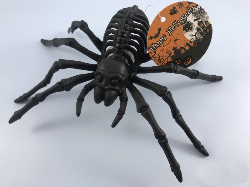 Скелет паук черный мигающий