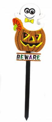 Декор на палочке для Хэллоуина Тыква с Привидением