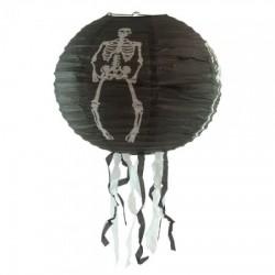 Декор подвесной черный со скелетом большой
