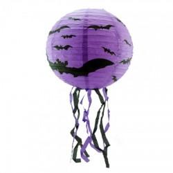 Декор подвесной фиолетовый с летучей мышью