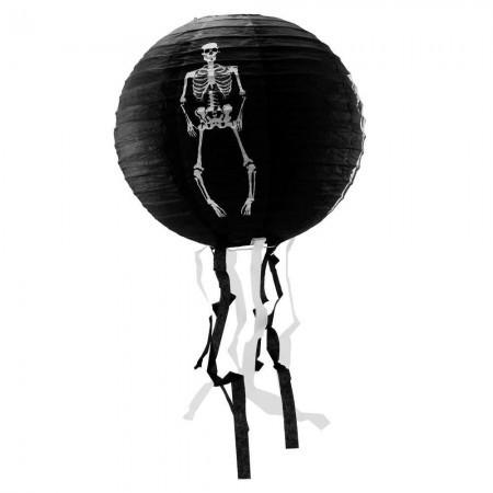 Декор подвесной черный со скелетом средний