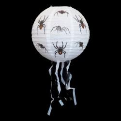 Декор подвесной белый с пауками малый