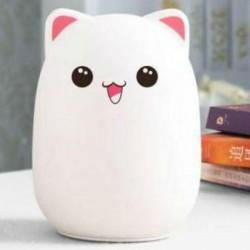 Силиконовый ночник-игрушка Котик с розовыми ушками
