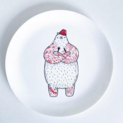 Тарелка Голодный Мишка