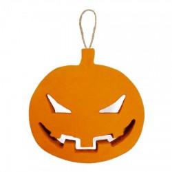 Декор объемный Тыква злая оранжевая маленькая