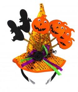 Шляпка Halloween на ободке желтая