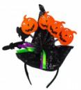 Шляпка Halloween на ободке черная