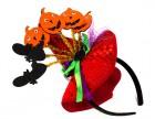 Шляпка Halloween на ободке красная