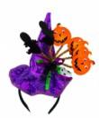 Шляпка Halloween на ободке фиолетовая