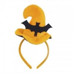 Шляпка на ободке Хэллоуин с Летучей мышью