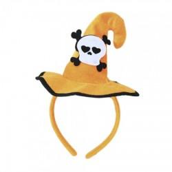 Шляпка на ободке Хэллоуин с Черепом