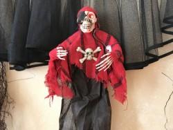 Подвесной декор скелет Пират с криком и мигающими глазами криком
