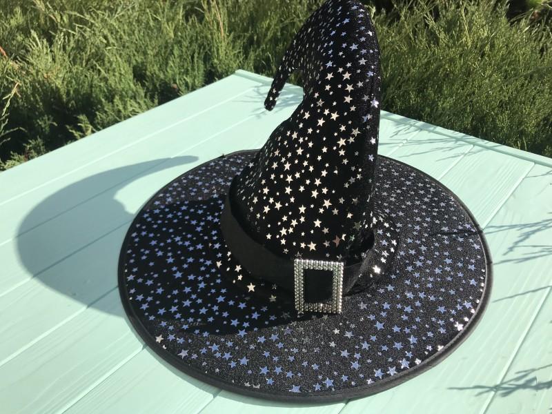 Шляпа Ведьмочки с серебряными звездами