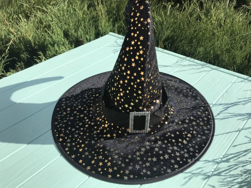 Шляпа Ведьмочки с золотыми звездами