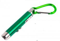 Брелок детектор валют, лазерная указка + фонарик зеленый