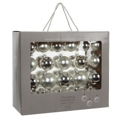 Елочные шарики House of Seasons набор из 42 шт, цвет серый