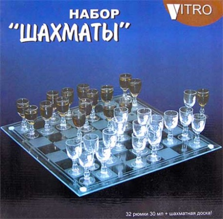 Шахматы большие с бокальчиками
