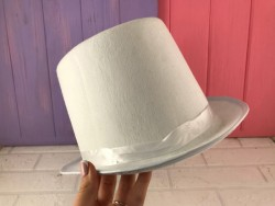 Шляпа Цилиндр белый